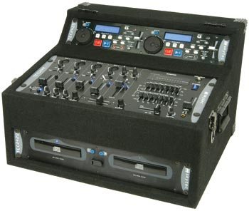 sound system kit. this dj kit offers an all-in-one system for the mobile dj. it includes tec2420 dual cd-player with anti-shock, instant start, pitch control and sound e
